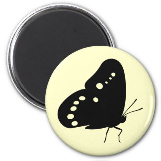 Pearly Eye Butterfly 6 Cm Round Magnet