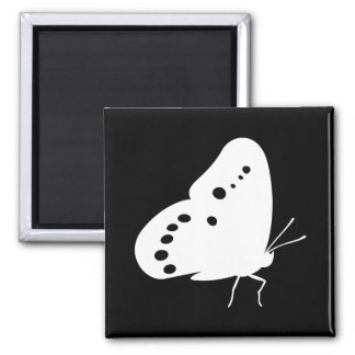 Pearly Eye Butterfly Square Magnet