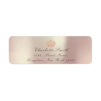 Pearly Pink Glitter RSVP Crown Princess Bridal