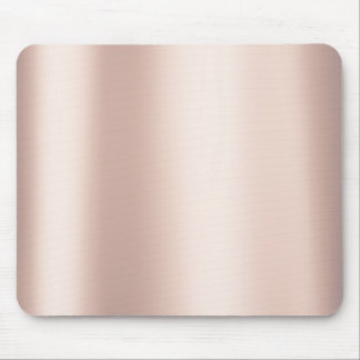 Pearly Pink Rose Ballet Blush Gold Metallic Mouse Mat