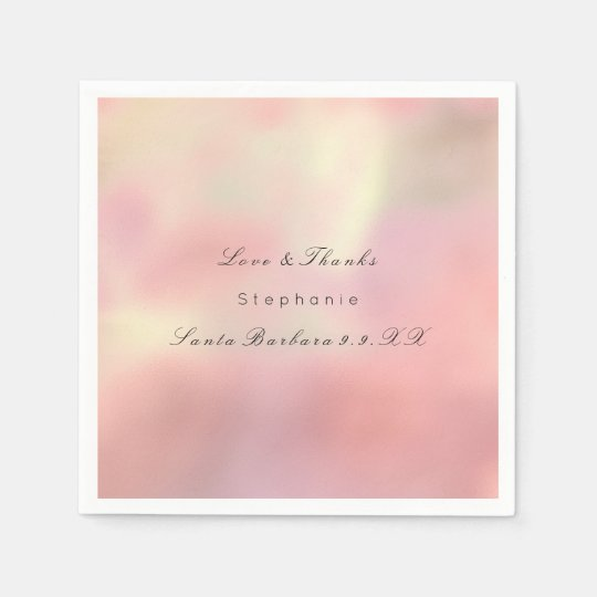 Pearly Rose Gold Ombre Peach Copper Custom Name