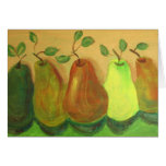 Pears - Acrylic Painting by Trevor Star Greeting Cards
