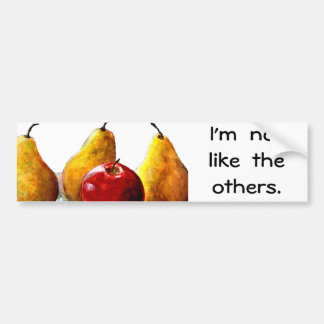 Pears, Apple Fine Art Still Life Bumper Sticker