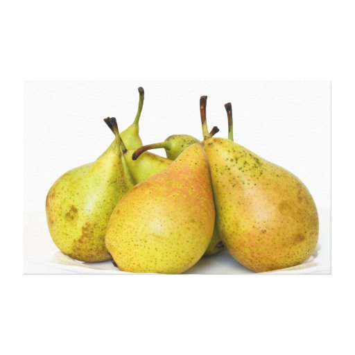 Pears Stretched Canvas Print