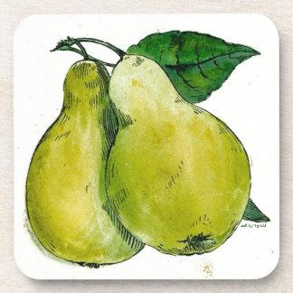 Pears Cork Coasters
