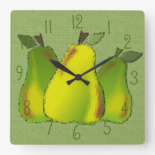 Pears Glass (tiled) Wall Clock