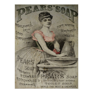 Pears Soap Advertisement Poster