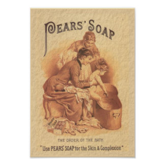 Pears Soap Bathing the Child Poster