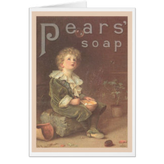 Pears Soap Bubbles Ad Greeting Card