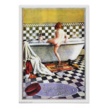 Pears Soap Child Bathing Poster