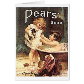 Pears Soap Kids Washing Dog Card