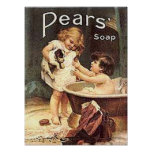 Pears Soap Kids Washing Dog Posters