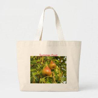 Pears, Summer Fruit Jumbo Tote Bag