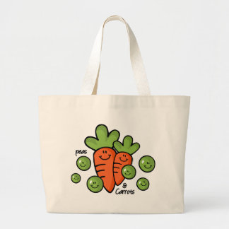 Peas And Carrots Large Tote Bag