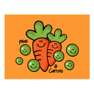 Peas And Carrots Postcard