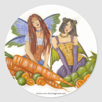Peas and Carrots Sticker