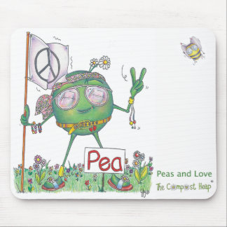 Peas and Love Mousepad