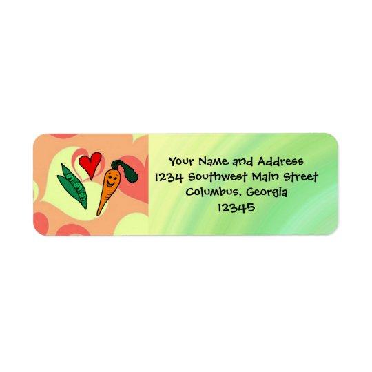Peas Be My Valentine Return Address Label
