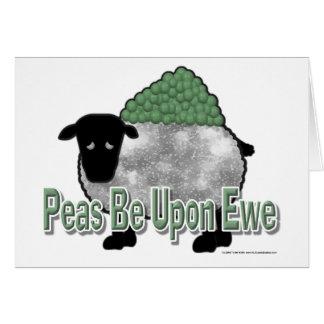 Peas Be Upon Ewe Cards