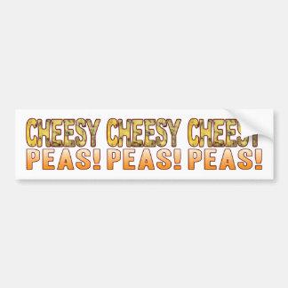 Peas Blue Cheesy Bumper Sticker