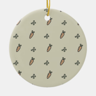 Peas & Carrots Christmas Ornament