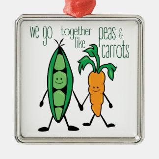 Peas & Carrots Christmas Ornament