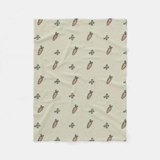 Peas & Carrots Fleece Blanket