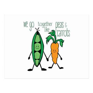 Peas & Carrots Postcard