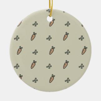 Peas & Carrots Round Ceramic Decoration
