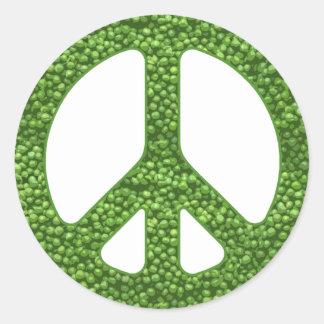 Peas Classic Round Sticker