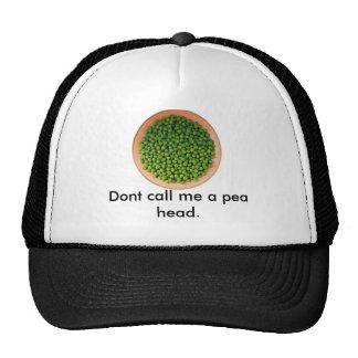 peas Dont call me a pea head Mesh Hats