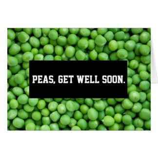 PEAS Get Well (BLANK INSIDE) Card