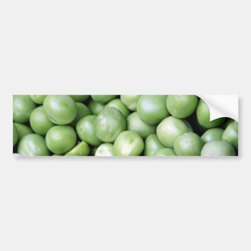 Peas in a pile bumper stickers