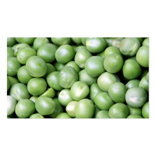 Peas in a pile business card