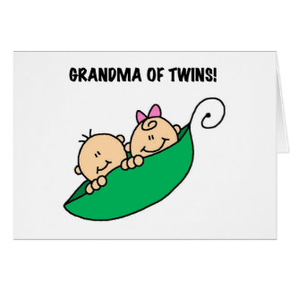 Peas in a Pod Grandma of Twins Greeting Cards