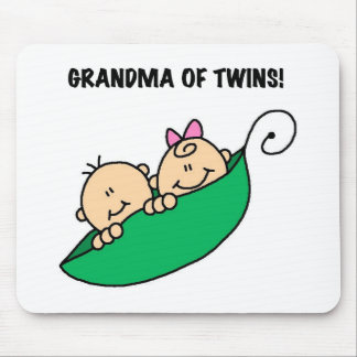 Peas in a Pod Grandma of Twins Mouse Mat