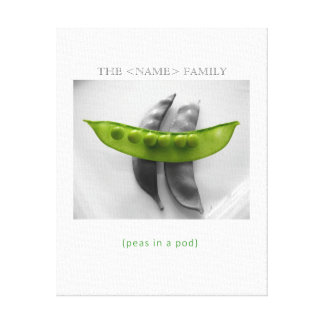 """Peas in a Pod"" Mother's Day Canvas Canvas Prints"
