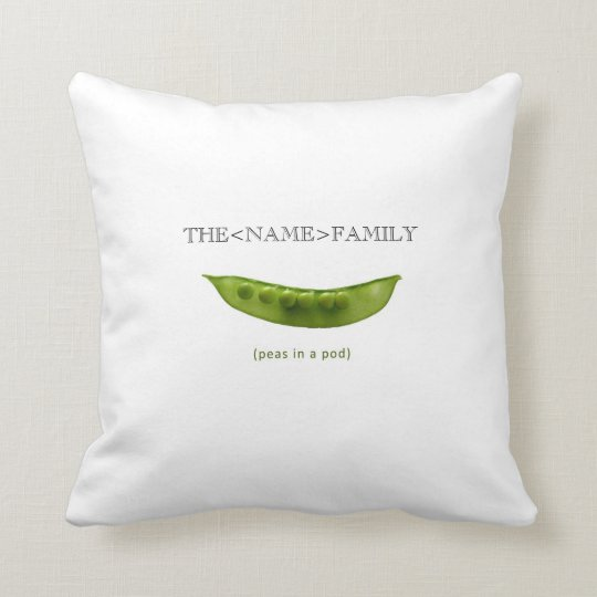 """""""Peas in a Pod"""" Personalised Pillow for Mum"""