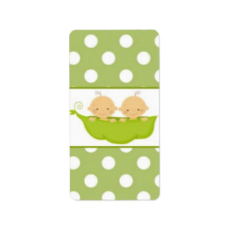 Peas In A Pod Twins Baby Shower Candy Wrapper Label