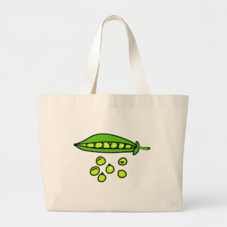 peas large tote bag