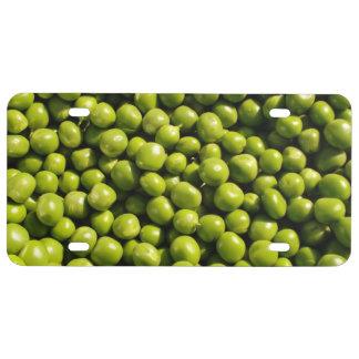 peas license plate