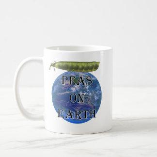 Peas on Earth Classic White Coffee Mug