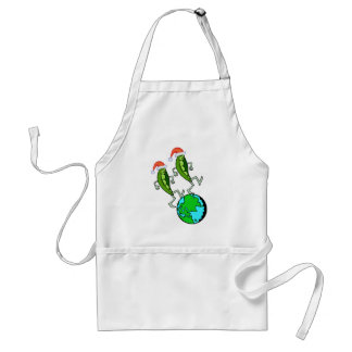 Peas on Earth Holiday Standard Apron