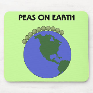 Peas On Earth Mouse Mat