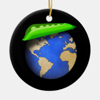 Peas on Earth - Peace on Earth Holiday Round Ceramic Decoration