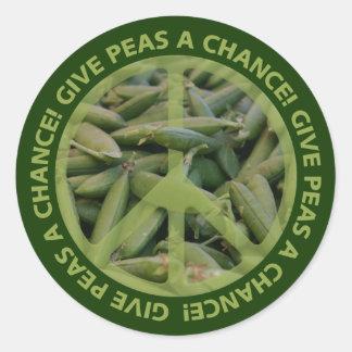 PEAS stickers