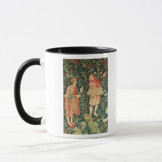 Peasant carrying a jeu de marelle board mug