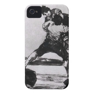 Peasant Carrying a Woman by Francisco Goya iPhone 4 Covers