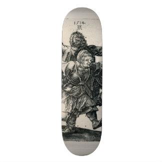 Peasant Couple Dancing by Albrecht Durer Skateboard Deck