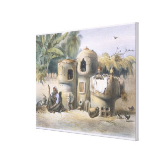 Peasant Dwellings in Upper Egypt, illustration fro Canvas Print